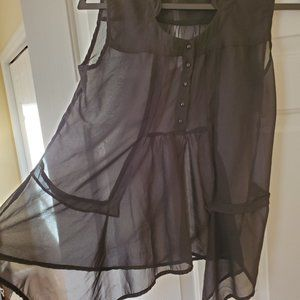 Vero Moda Black Sheer Flowy Sleeveless Blouse  Size Small